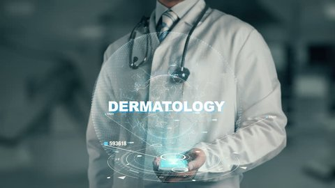Doctor holding in hand Dermatology