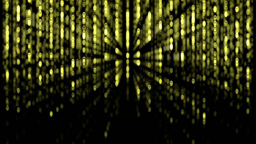 Matrix. Smiley background. 2009/02/17   Shutterstock HD Video #336319