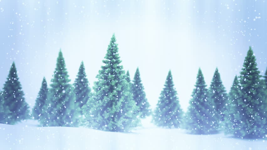 Snow and Christmas trees. UHD Seamless loop  | Shutterstock HD Video #33636250