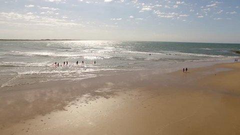 Torquay beach Australia aerial drone