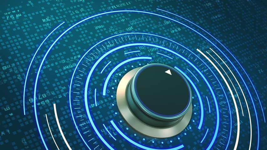 Futuristic hud with a rotating knob and random letters that form the word: strategy (3d render) | Shutterstock HD Video #33673969
