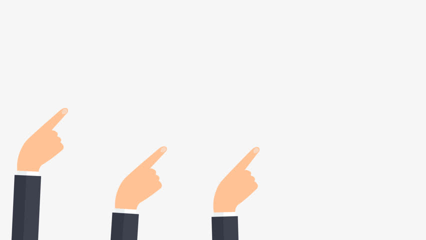 Animation - Human hands showing direction. Showing hands.  Animation with alpha channel. Flat design business infographic. -stock footage | Shutterstock HD Video #33690379