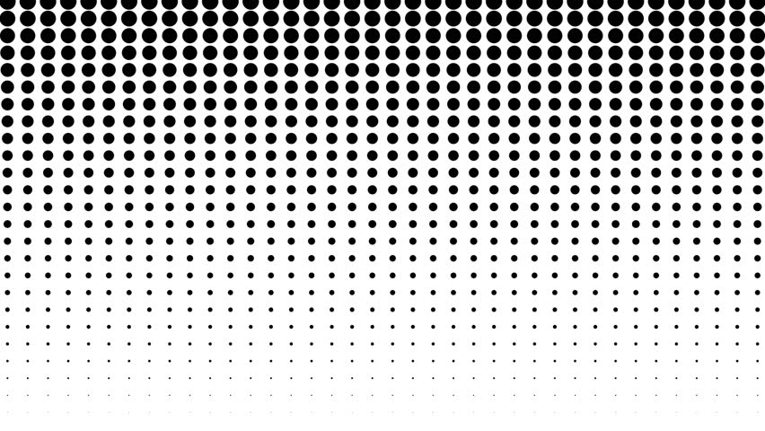 Dynamic black and white composition. Halftone element. Seamless loop