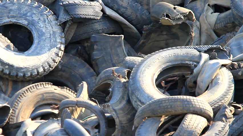 recycled tire pile