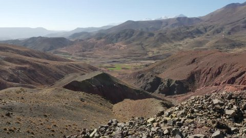 Atlas mountains panorama view in Morocco – 4K