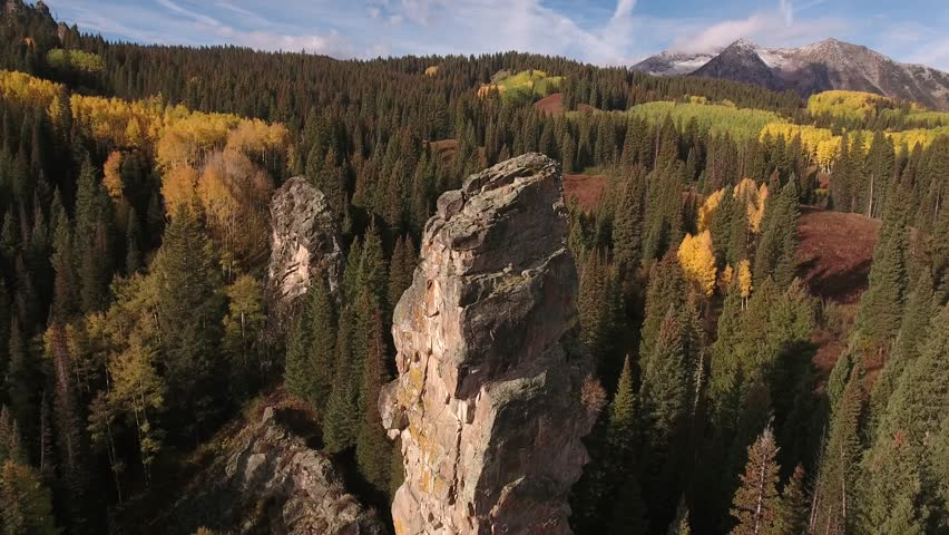 Beautiful drone aerial video of the Worlds Largest aspen grove Kebler Pass along with rabbit ears pass and the rocky mountains taken during the fall colors of yellow, green and red | Shutterstock HD Video #33938119