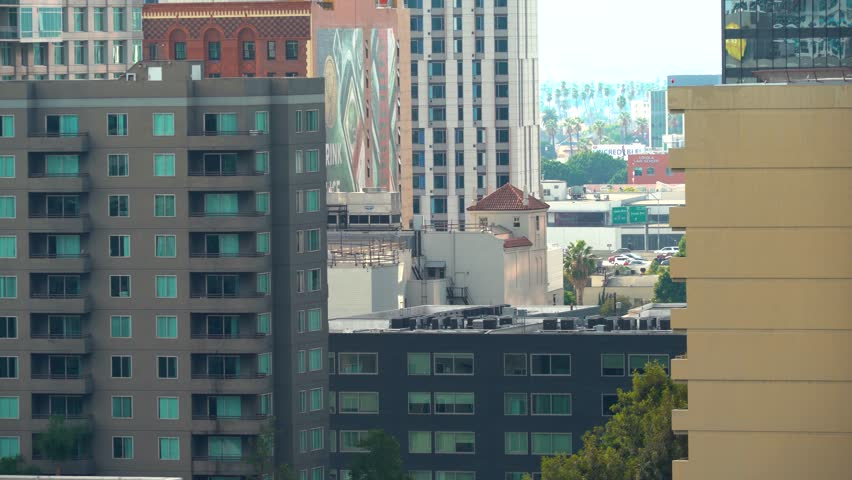 View of Downtown Los Angeles buildings in the afternoon | Shutterstock HD Video #33955579