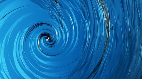 Animation of Beautiful clear water swirl ,whirl or spinning background.
