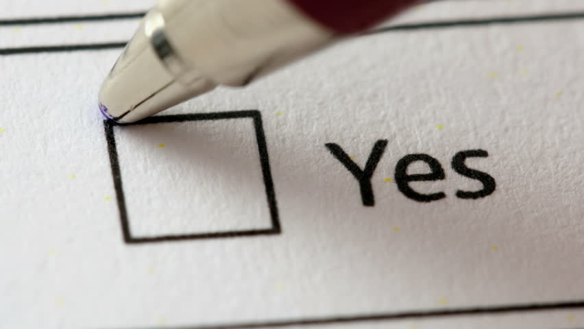 Yes No Maybe Vote, Tick Boxes Stock Footage Video 5952449 ...