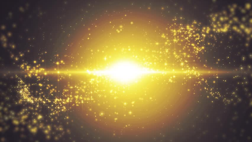 Space gold background with particles. Space golden dust with stars. Sunlight of beams and gloss of particles galaxies. Seamless loop. | Shutterstock HD Video #34036489