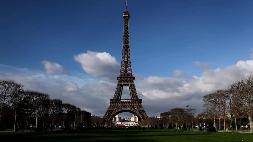 Eiffel Tower in Paris, Champ de Mars, France, Europe | Shutterstock HD Video #3404129