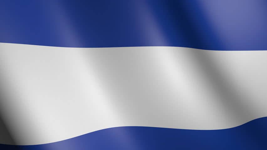 Flag of El Salvador with fabric texture, seamless loop