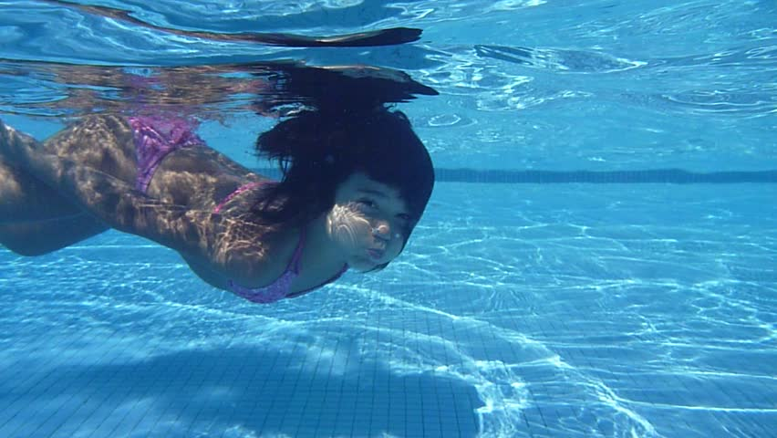 Sexy Redhead In The Pool With Lingerie-8 Stock Footage Video 698500  Shutterstock-4407