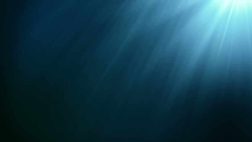 Underwater seamless scene with air bubbles floating up and sun shining through the water. #34167439