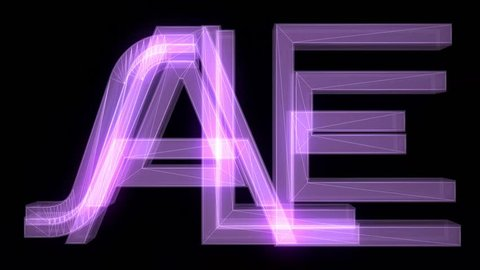purple wireframe neon SALE text fly in with glitch noise distortion animation on black background - new quality retro vintage game film motion joyful advertisement commercial video footage loop
