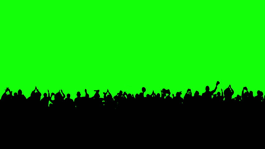 Crowd Of People. Green Screen. Stock Footage Video 3774596