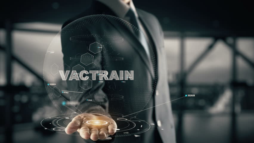 Vactrain with hologram businessman concept, in English Vactrain | Shutterstock HD Video #34226059