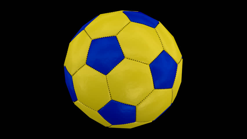 8f0d085ee Animated simple plain soccer ball with yellow and blue material spinning  against transparent background. Full 360 degree spin and loop-able. Alpha  channel ...