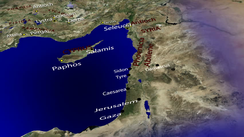 The Apostle Paul's First Missionary Journey