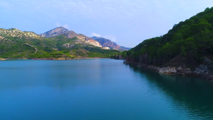 North Cyprus, Gecitkoy Dam, Aerial