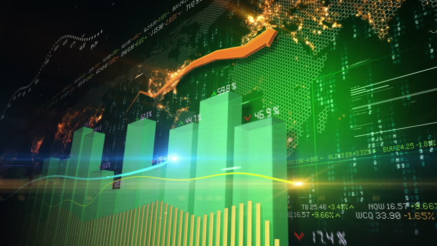 Stock market abstract animation | Shutterstock HD Video #3437249