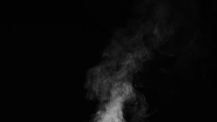 White smoke on black background, rising 14 #34433599