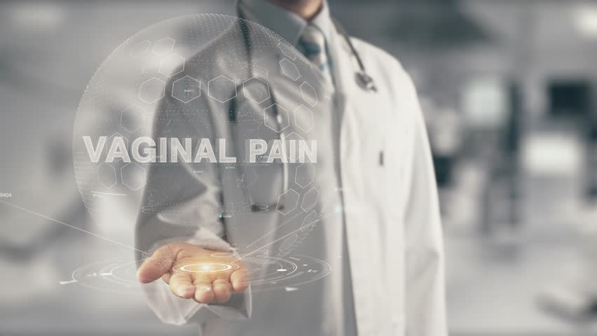 Doctor holding in hand Vaginal Pain