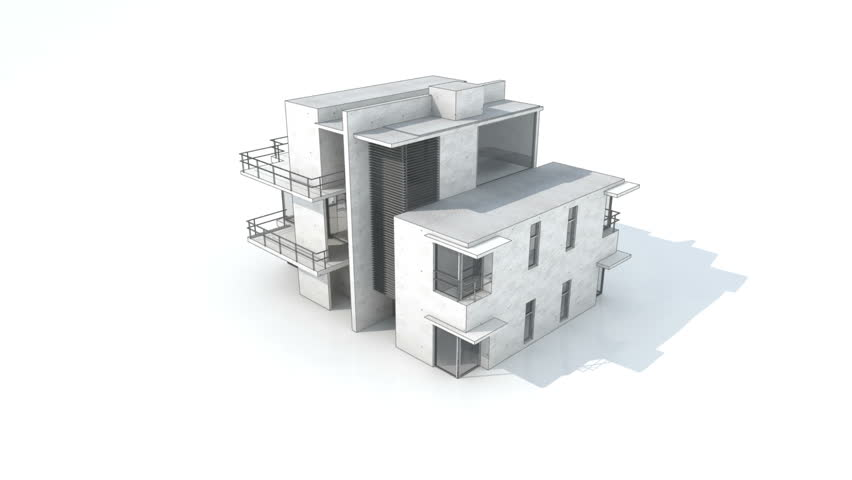 Drawing Of A Modern House Stock Footage Video 3454499 Shutterstock