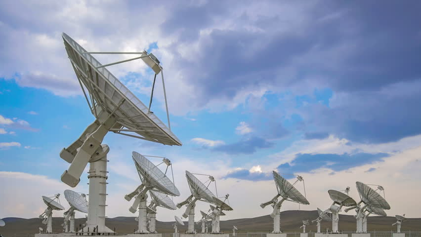 Very Large Satelite Dishes Telescope Array,China - Space Science. | Shutterstock HD Video #34560319