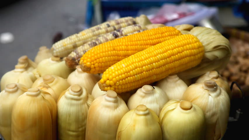 Delicious boiled corn on sale on the streets of bangkok thailand selling boiled corn thai food colourful street food life in bangkok thailand ccuart Choice Image