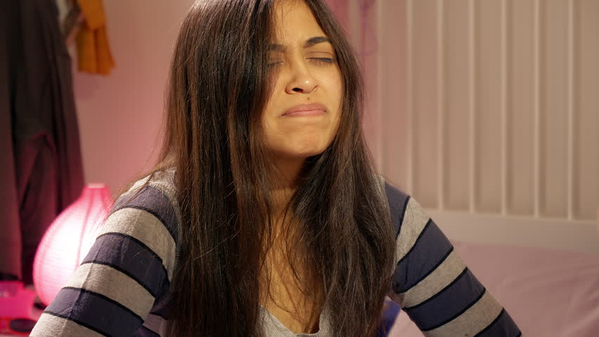 Young pregnant woman feeling nausea