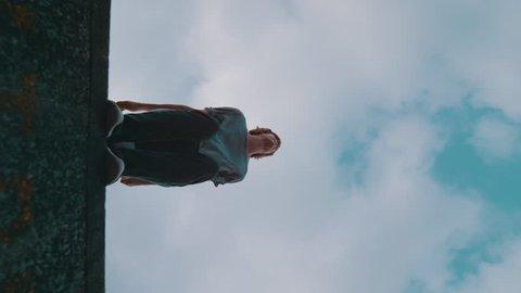 Super slow motion free running acrobat in street shot on Phantom Flex 4K