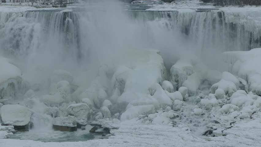 Niagara Falls Frozen And Ice Stock Footage Video 100 Royalty Free 34718299 Shutterstock