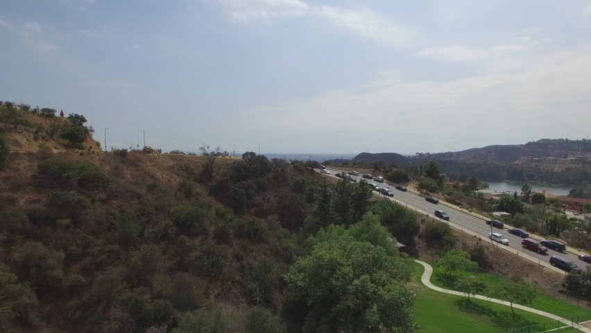 Shot in Hollywood, California on a phantom 3 4k at 23.987 fps using a polarizer to bring out color in the sky.   Shutterstock HD Video #34722079