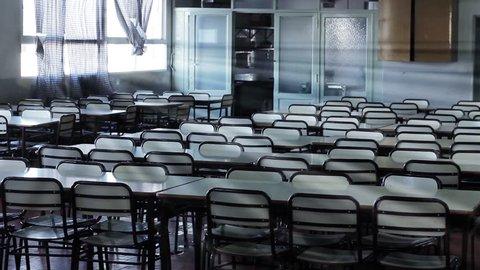 Empty Classroom with Sun Beams.