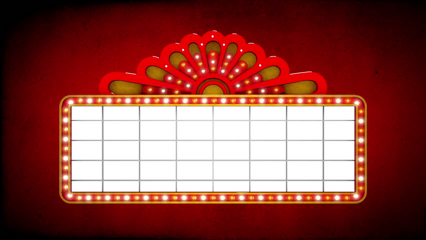 marquee lights stock footage video shutterstock