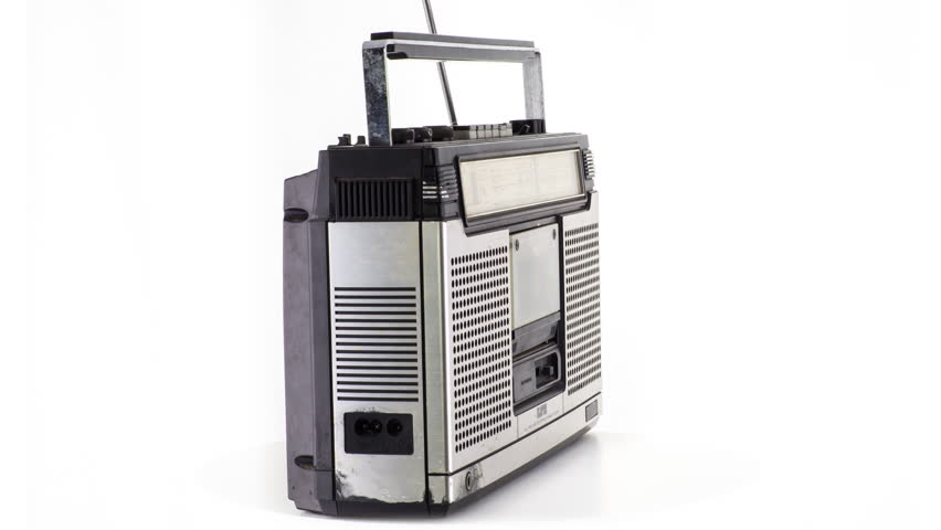 A vintage hifi ghettoblaster spinning around | Shutterstock HD Video #34793509