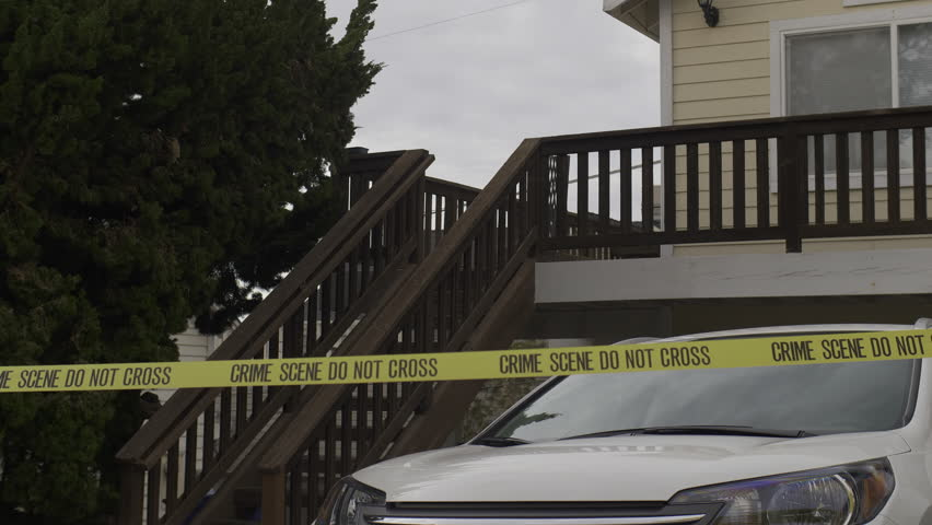RESIDENTIAL CRIME SCENE, IN 4K.  Upstairs guest house.