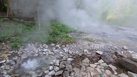 Pong Dueat Geyser water hot spring in Chiangmai, Thailand.