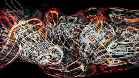 Video Background 2010: Abstract fluid forms pulse, ripple and flow (Loop).