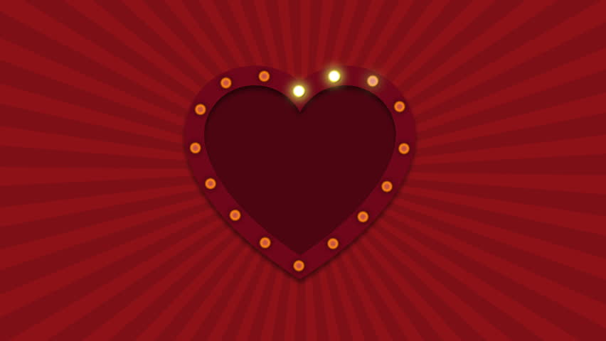 Valentines Day Animation Background. Template For Your Text Or Sign. Can Be  Used For