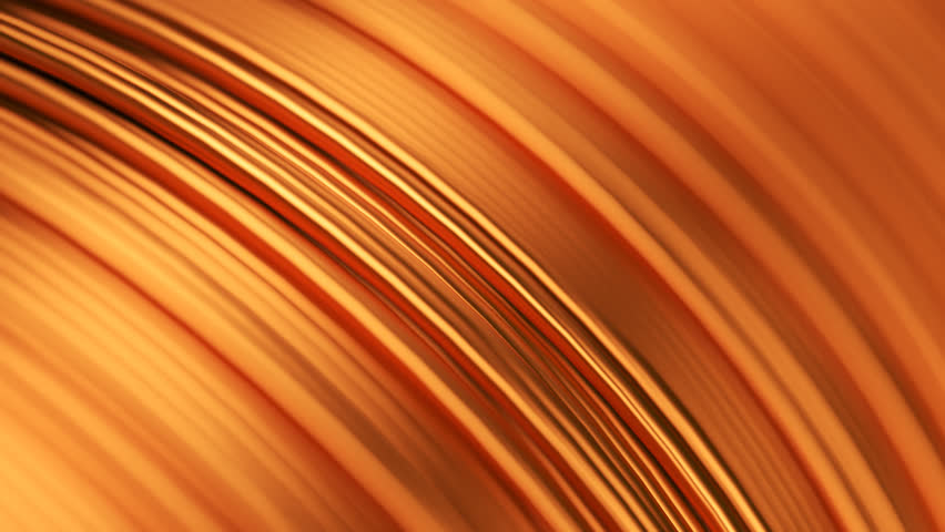 03093 Close up of the bare bright copper wire on the spool. CG loopable animation.