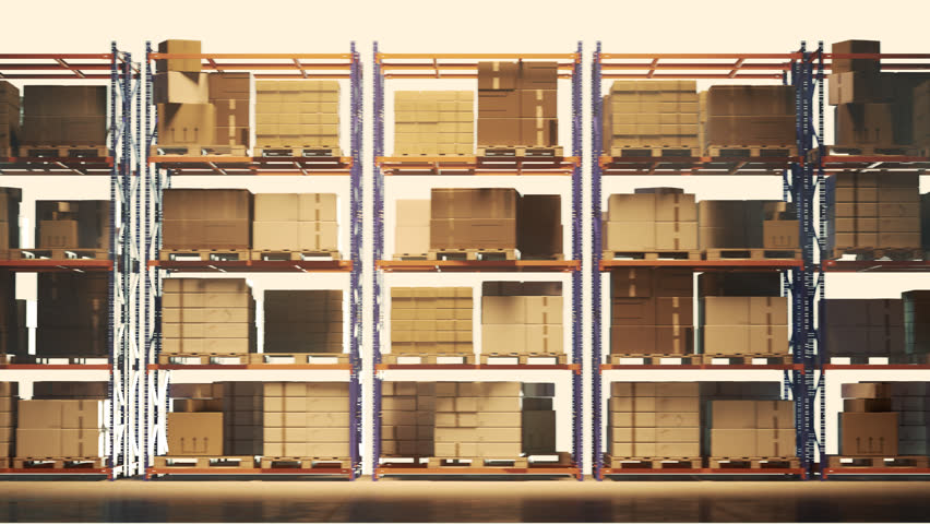 03103 Seamless loop of a shelves with pallets   Shutterstock HD Video #34883929