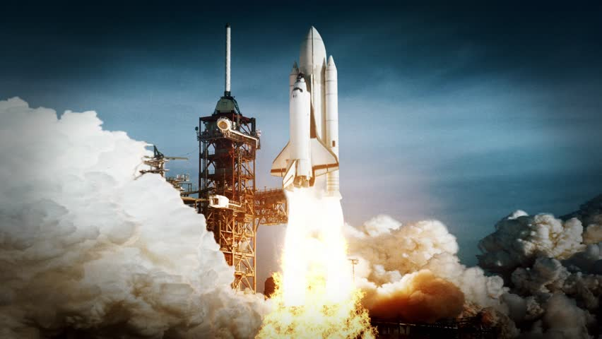Space Shuttle Challenger Launch. launch of the spacecraft. some elements furnished by NASA images | Shutterstock HD Video #34893169