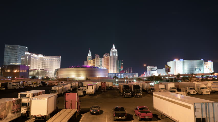 Las Vegas Strip Skyline Time Lapse Hotel and Casino | Shutterstock HD Video #34912657