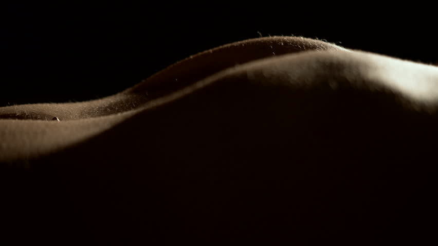Close-up shot of sexual naked woman