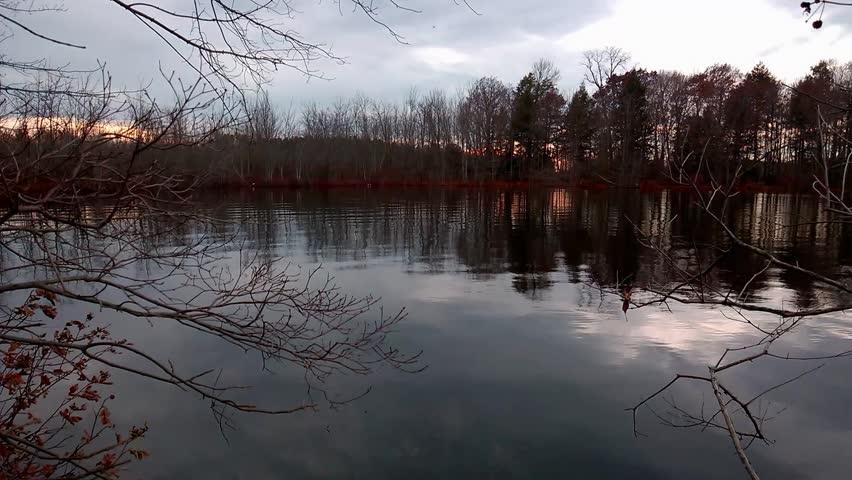 Sundown at Beaver Lake in Baldwinsville, New York   Shutterstock HD Video #34927936