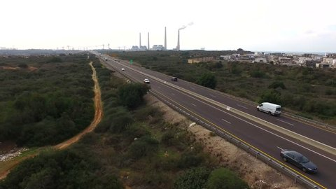 Highway 2 - Israel, Aerial View Taken From A Drone