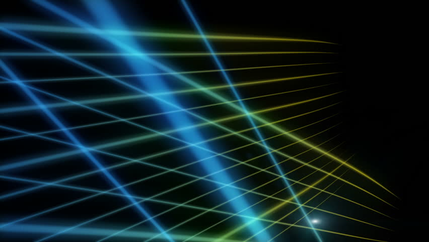 Blue Neon Laser Lights Animated Seamless Motion Graphics