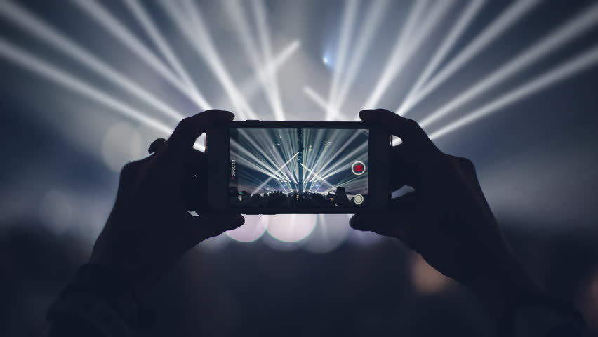 Concert live streaming mobile phone 4K | Shutterstock HD Video #34992913